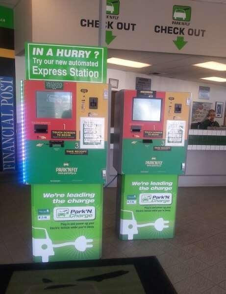 Vancouver Airport Parking Park'N Fly Self Serve Kiosks
