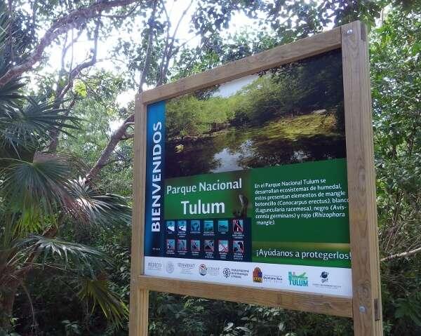 Tulum National Park Sign Post