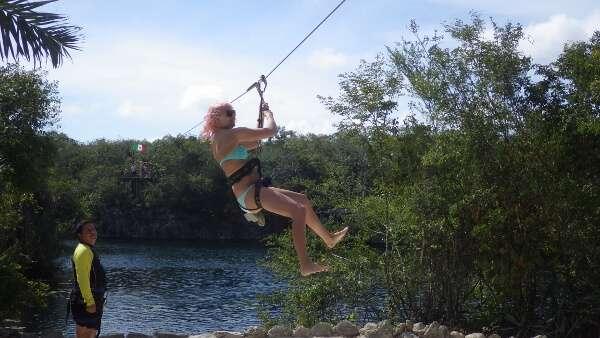 Ziplining Tankah Mexico