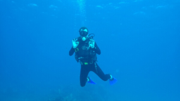 Experienced Scuba Diver Tulum Mexico