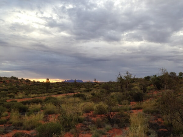 Sun Setting in Ayers Rock