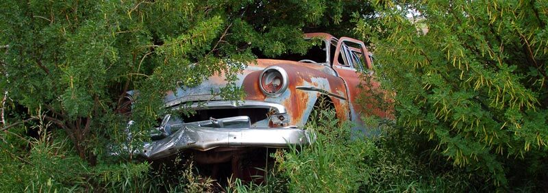 Old Abandoned Car Alberta Canada
