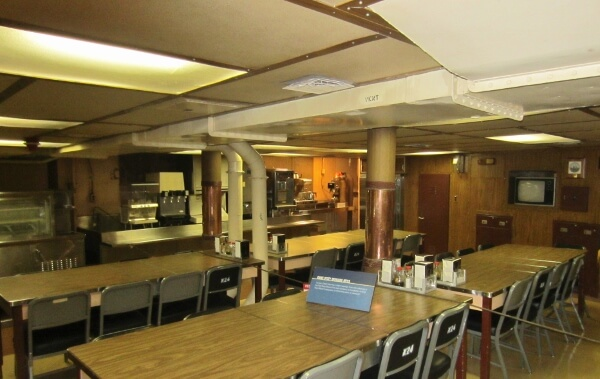 Battleship Missouri Mess Hall