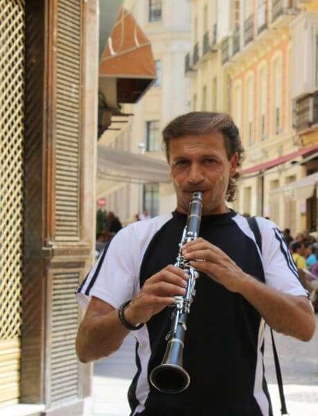 Musician in Malaga Spain