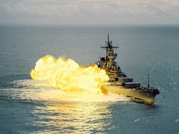 Missouri Firing Cannons