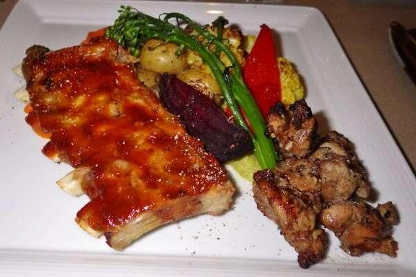 Vic's Steakhouse Jerk Chicken & Pork Ribs