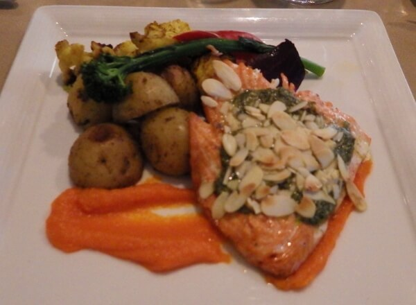 Vic's Steakhouse Victoria BC Pacific Salmon Dinner
