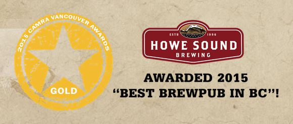 Howe Sound Brewpub Recognition