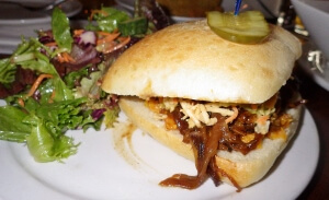 Howe Sound Pub BBQ Pulled Pork Sandwich