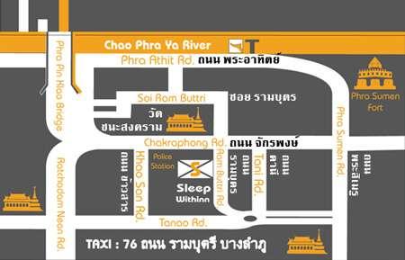 Sleep Withinn Hotel Bangkok Street Map