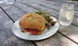 Fergie's Café Salmon Burger