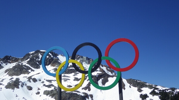 Olympic Rings Whistler Mountain