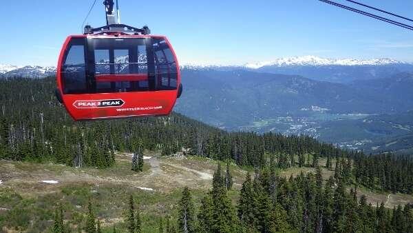 Peak to Peak Gondola Whistler BC