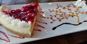 Watershed Grill Cherry Cheesecake