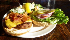 Watershed Grill River Burger