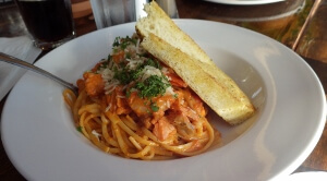 Watershed Grill Salmon & Prawn Pasta