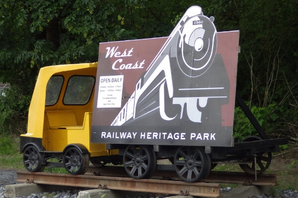 The West Coast Railway Heritage Park in Squamish BC