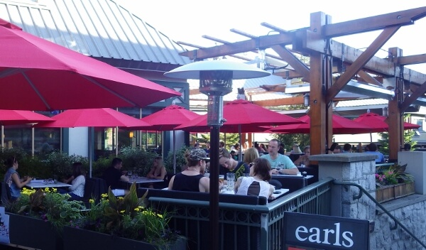 earls kitchen patio whistler bc