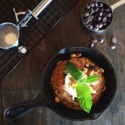 Peanut Butter Skillet Cookie