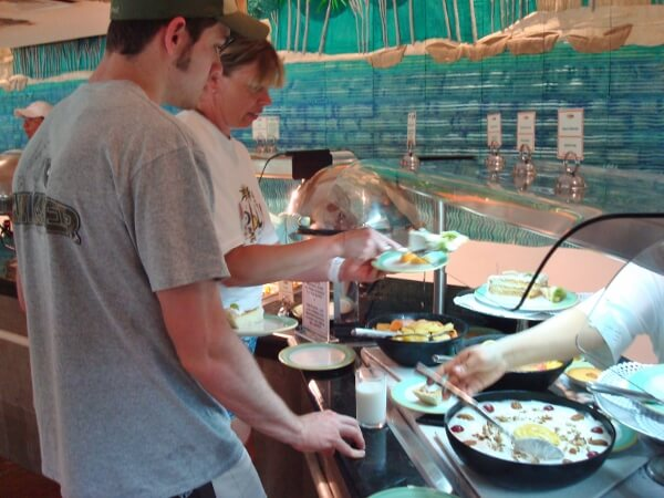 Enjoy all-inclusive buffets
