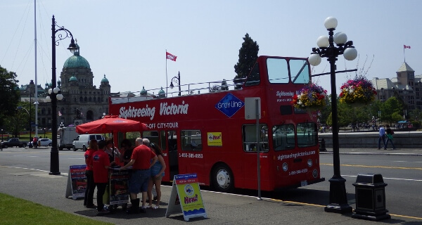 Hop On Hop Off With GrayLine Sightseeing Victoria BC
