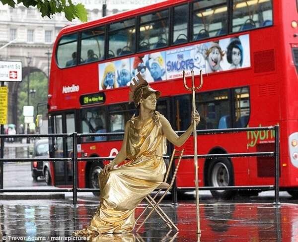 Human Statue London