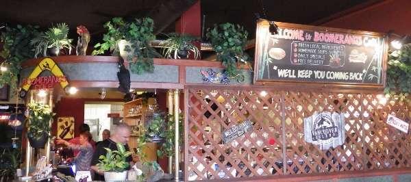 Boomerangs Café Vancouver Island