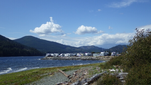 The China Creek Campground in Port Alberni BC