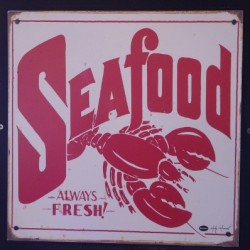 Old Seafood Sign