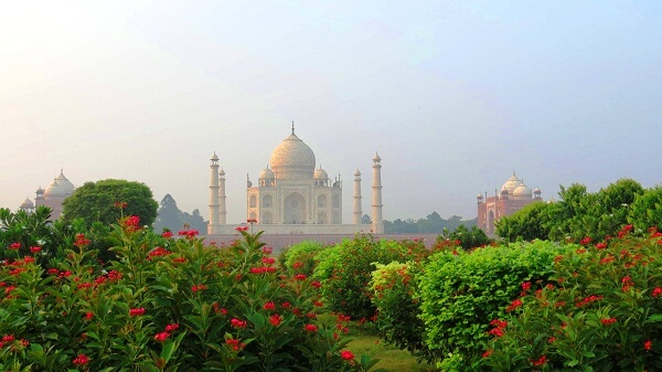 Taj Mahal from the Mahtab Bagh