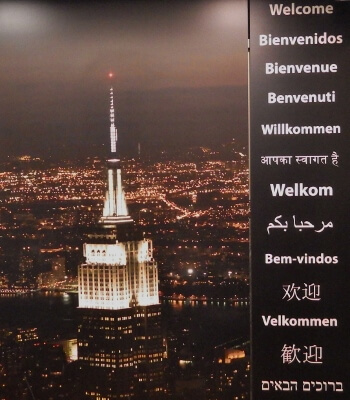 Empire State Building Welcome Poster