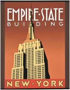 Old Empire State Building Poster