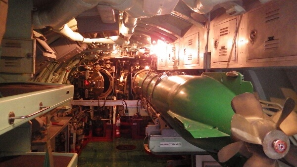 USS Growler Missile Room
