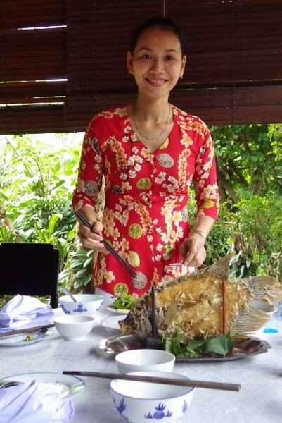 Fresh Bass Fish Mekong Delta