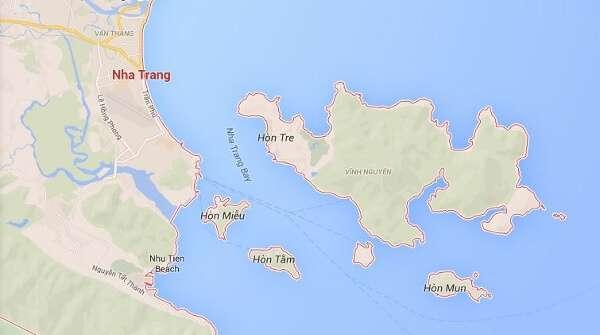 Hon Mun Island Vietnam Map