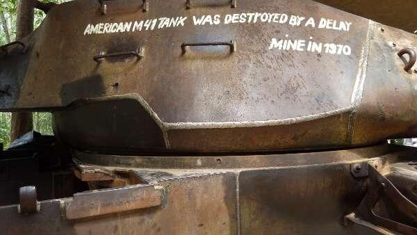 US Tank Relic Cu Chi Tunnels