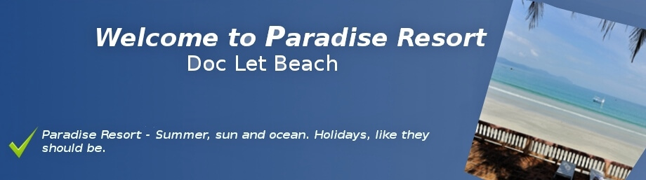 Paradise Resort Banner