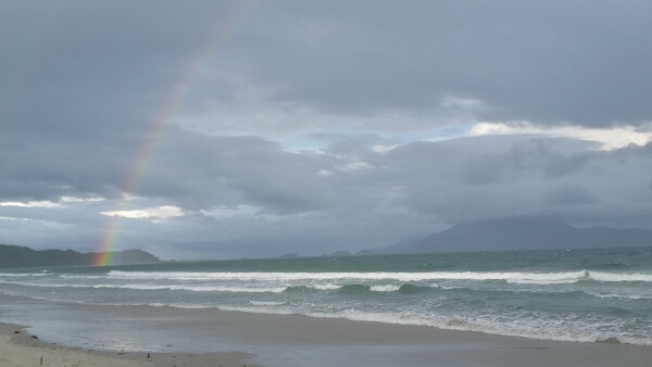 Rainbow at Doc Let Beach