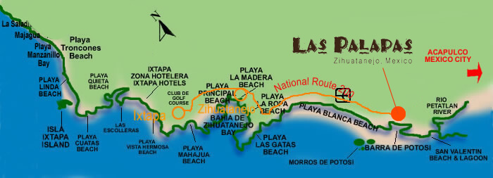 Map Playa Blanca Beach Mexico
