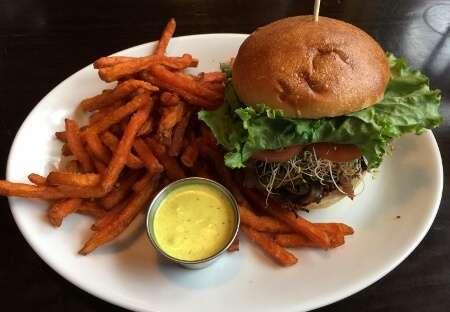 Jasper Brewpub Seared Beetroot & Quinoa Burger