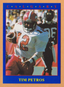 Tim Petros CFL Players Card