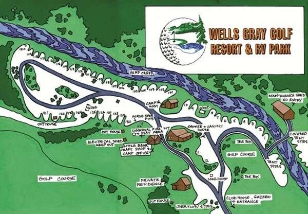 Wells Gray RV Park Map