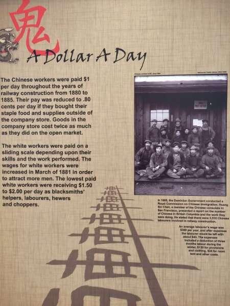 Revelstoke Railway Museum Tribute to the Chinese