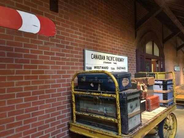 Revelstoke Railway Museum Vintage Baggage Rack