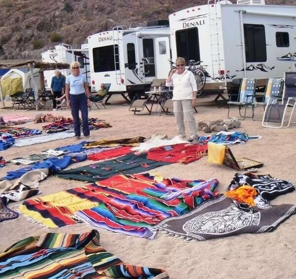 Beach Shopping at Playa Santispac