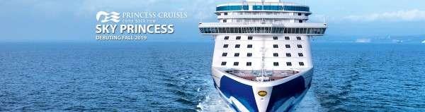 sky princess cruise ship banner