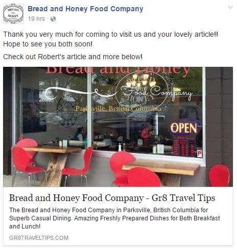 Bread & Honey Testimonial
