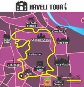 Haveli Bike Tour Map
