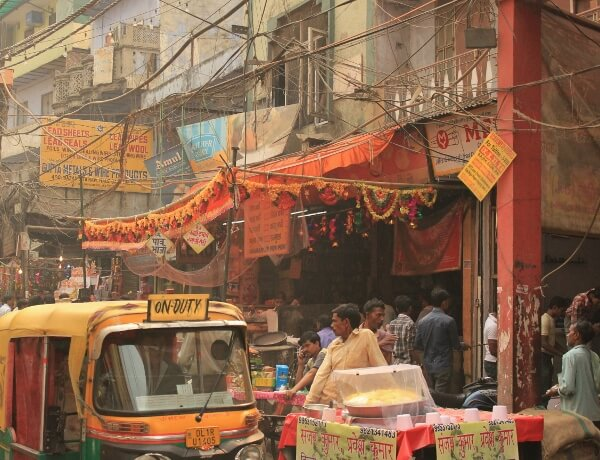Streets of Old Delhi India