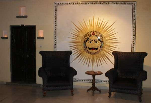 Udai Garh Resort Lounge Area